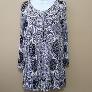 Altar'd State paisley empire waist mini dress L